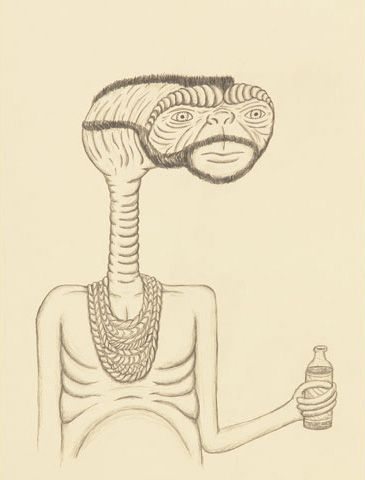 Mr. E.T. with Soda by Andrew Jeffrey Wright